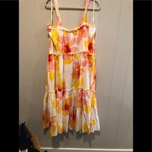 Free people floral maxi dress M NWT